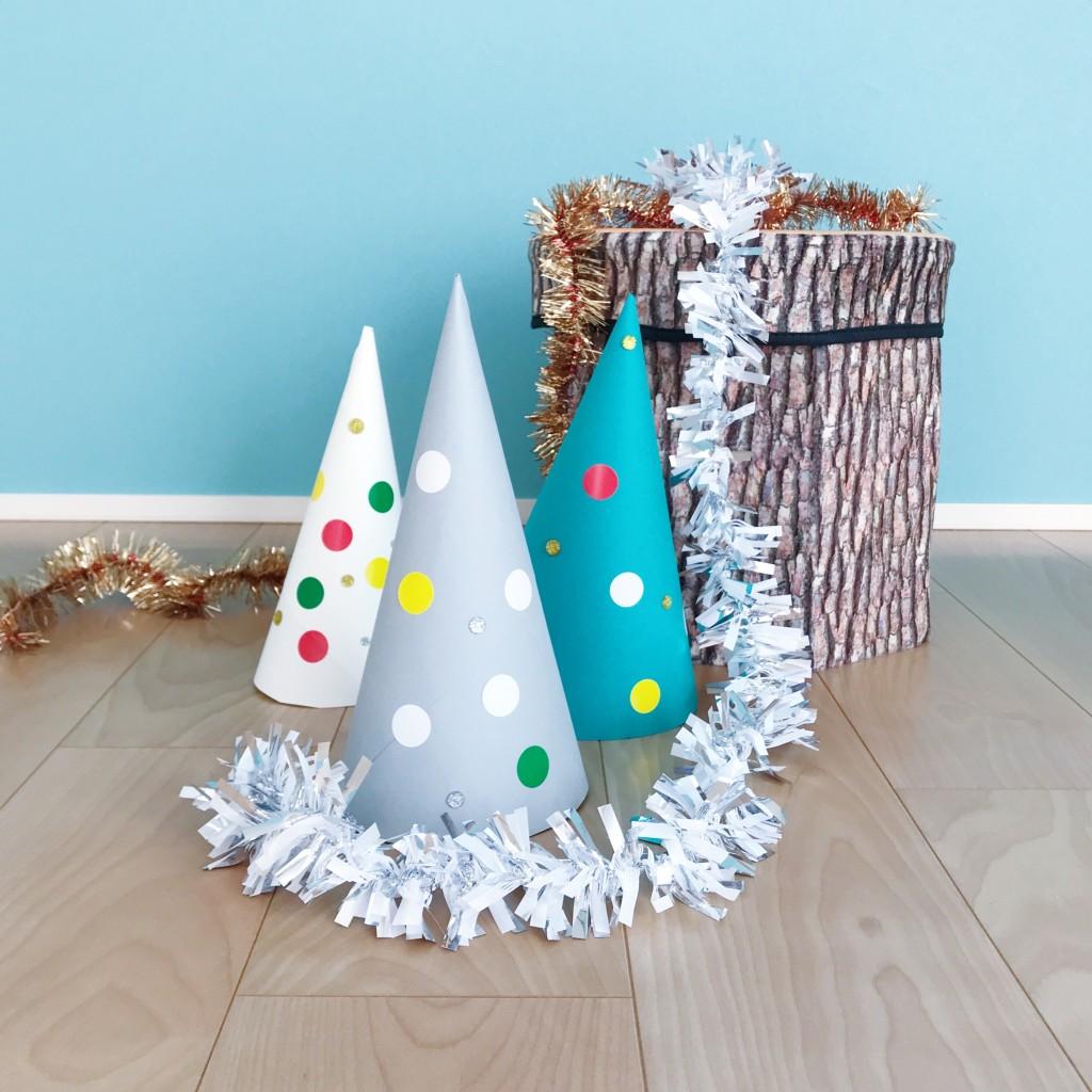 手作りのクリスマスツリー