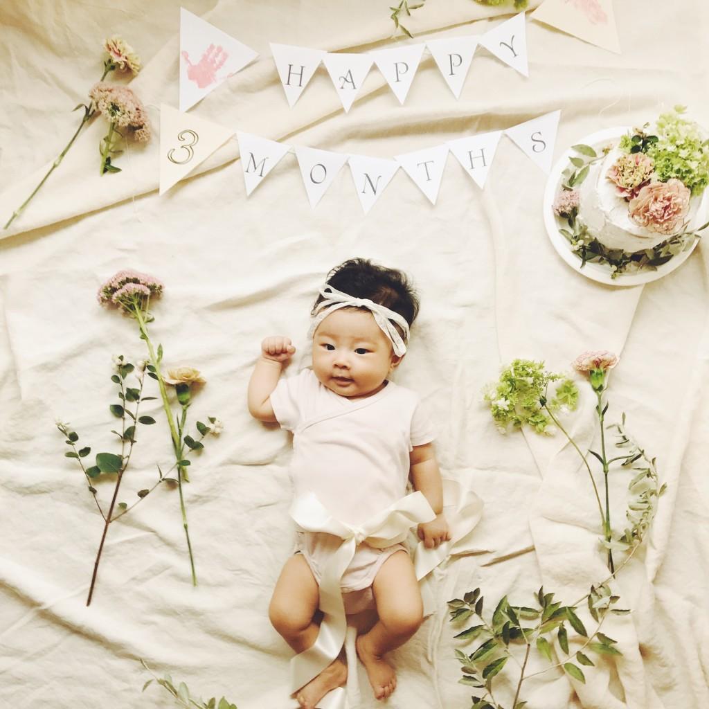 かわいい赤ちゃんとLuntanの無料ガーランド
