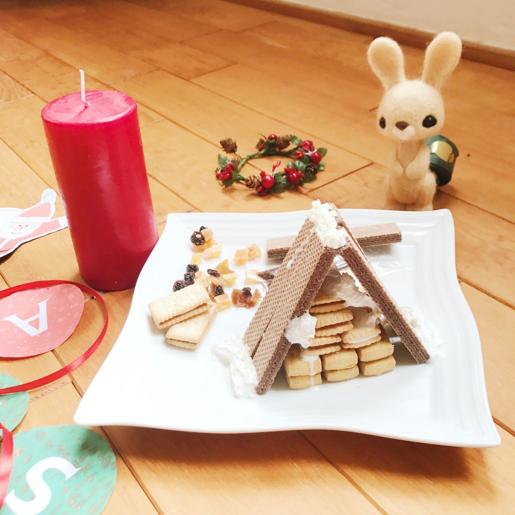 簡単に作れるお菓子の家