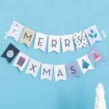 Xmasガーランドハッピークリスマス(モダン)
